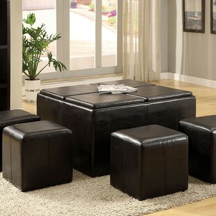 Find Margarida Leather Tufted Storage Ottoman By Red Barrel Studio