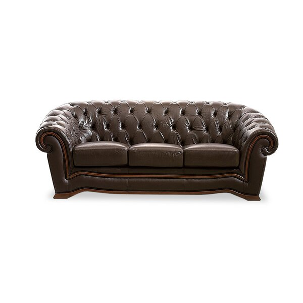 Barkell Leather Sofa by Canora Grey