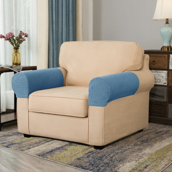 Arainy Jacquard Box Cushion Sofa Armrest Slipcover (Set Of 2) By Winston Porter