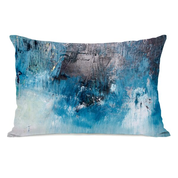 Paulita Ocean Oil Painting Lumbar Pillow by Ivy Bronx