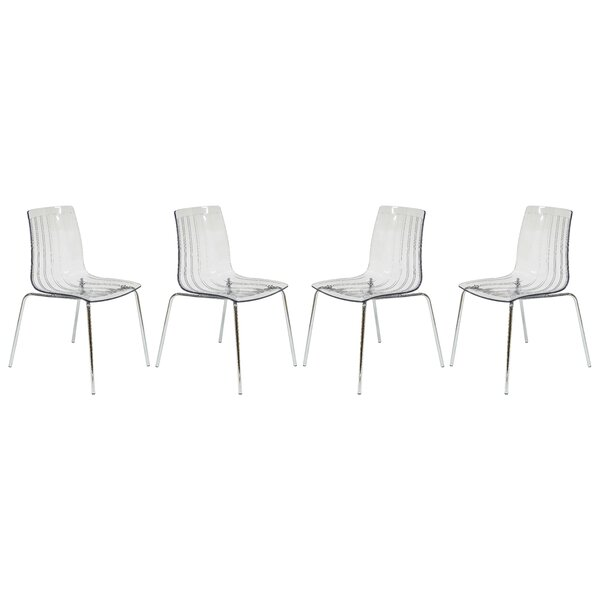 Rachael Stacking Patio Dining Chair (Set of 4) by Orren Ellis