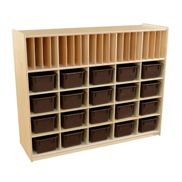40 Compartment Cubby with Trays by Wood Designs