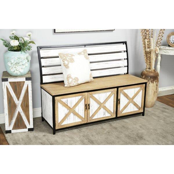 Awe Inspiring Fraizer Wood Storage Bench By Gracie Oaks Sale On Outdoor Dailytribune Chair Design For Home Dailytribuneorg