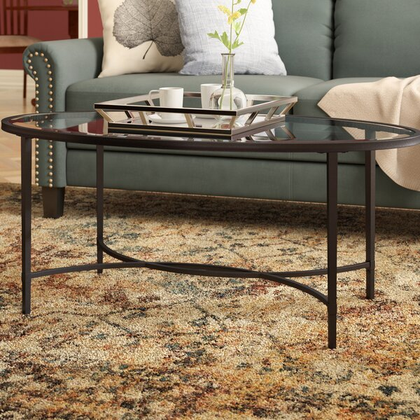 Sherrodsville Metal/Glass Coffee Table by Charlton Home