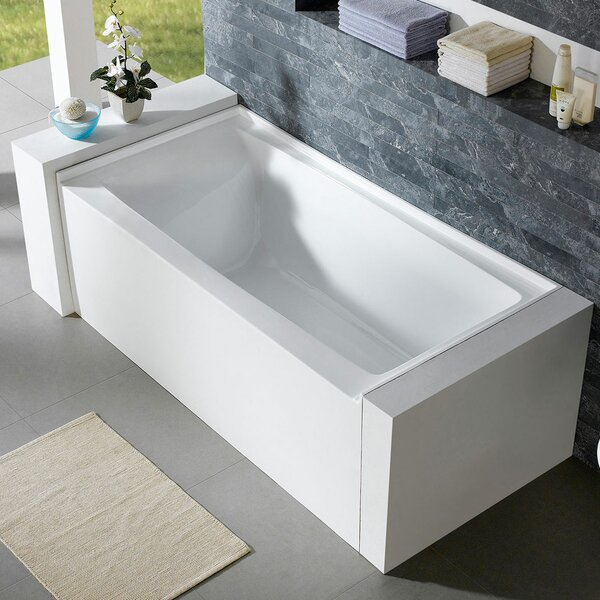 Delano 59.8 x 32 Alcove Soaking Bathtub by Pacific Collection