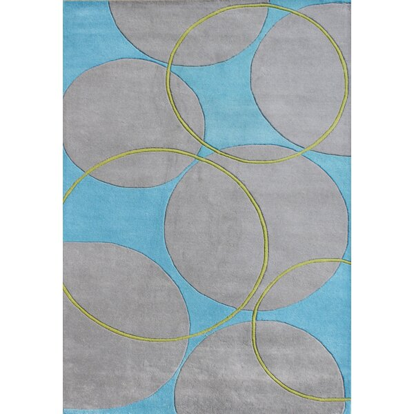 Orenco Hand-Tufted Blue/Gray Area Rug by The Conestoga Trading Co.