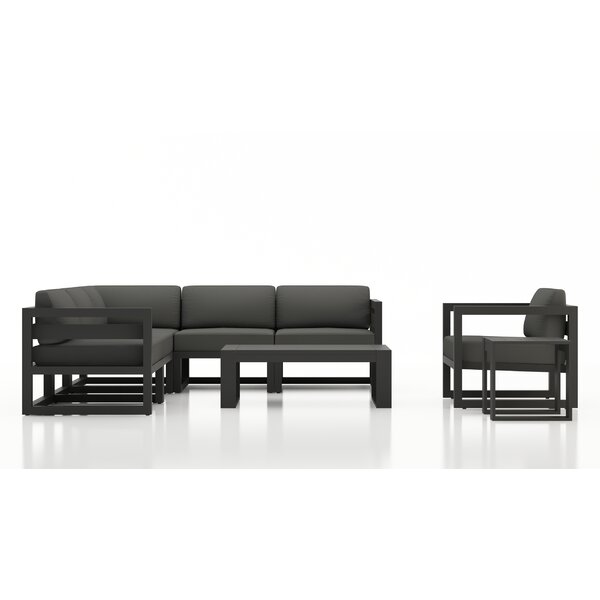 Remi 8 Piece Sectional Seating Group with Sunbrella Cushions by 17 Stories