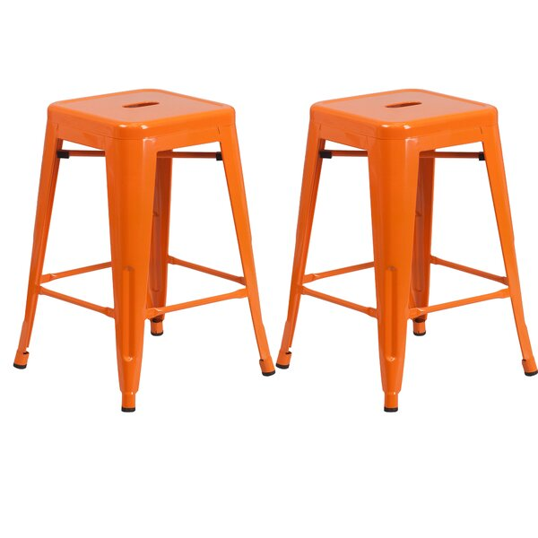Sachs 24 Bar Stool (Set of 2) by Ebern Designs