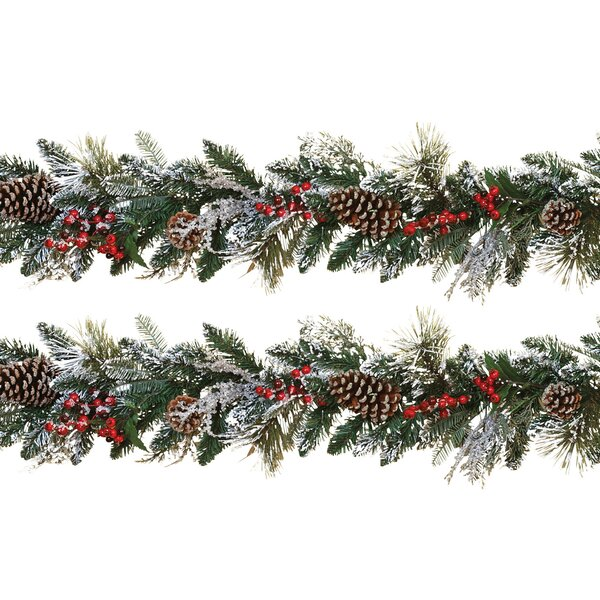Snowy Holiday Garland (Set of 2) by Gerson International
