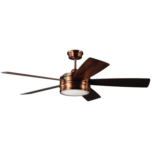 52 Mathers 5 Blade LED Ceiling Fan with Remote by Andover Mills
