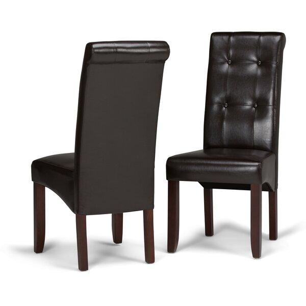Amador Deluxe Upholstered Dining Chair (Set of 2) by Alcott Hill