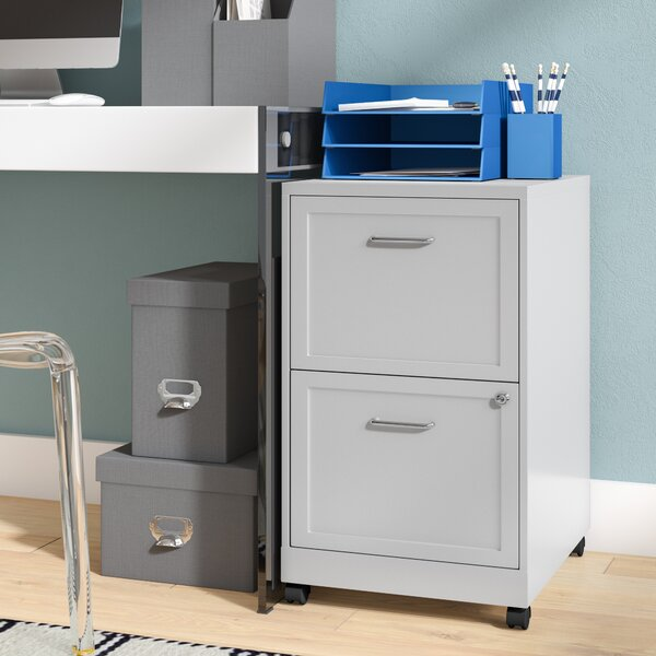 Bessie 18 2-Drawer Mobile File Cabinet by Zipcode Design