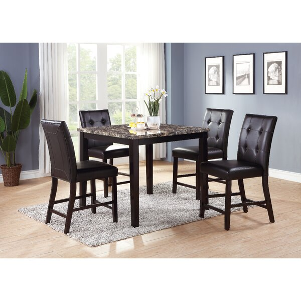 Ronald 5 Piece Counter Height Dining Set by A&J Homes Studio A&J Homes Studio