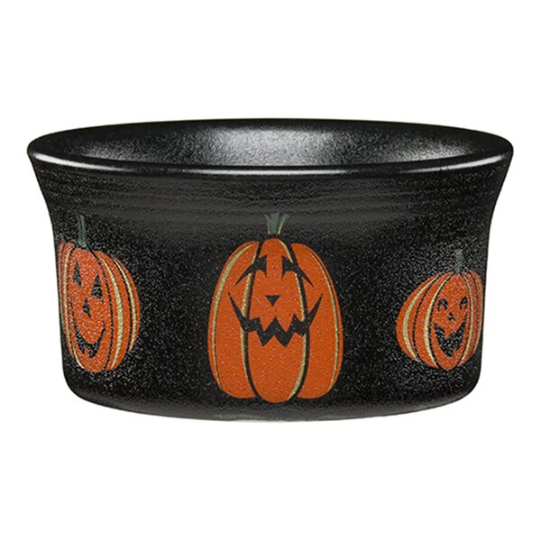 Round Ramekin Trio of Happy Pumpkins by Fiesta