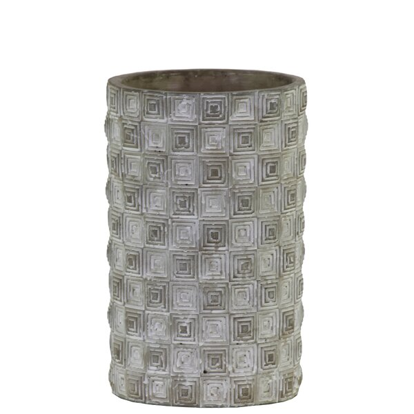 Frimunt Cement Cylindrical Rectangle Design Body Pot Planter by Bloomsbury Market