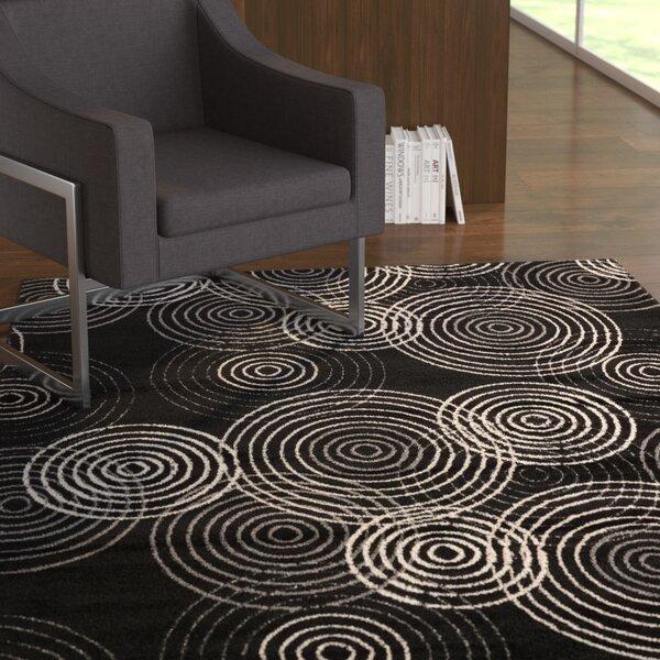 Densmore Black Area Rug by Ebern Designs