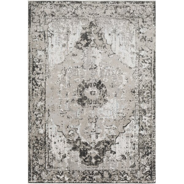 Eaglin Vintage Gray/Taupe Area Rug by Bungalow Rose