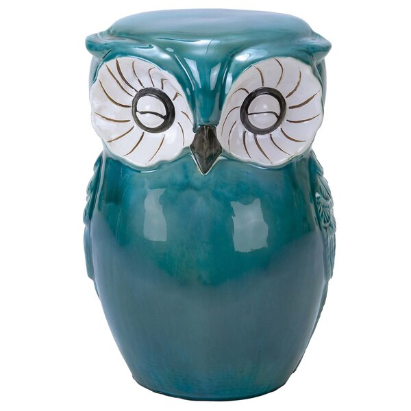 Hand Painted Owl Stool by Urban Designs