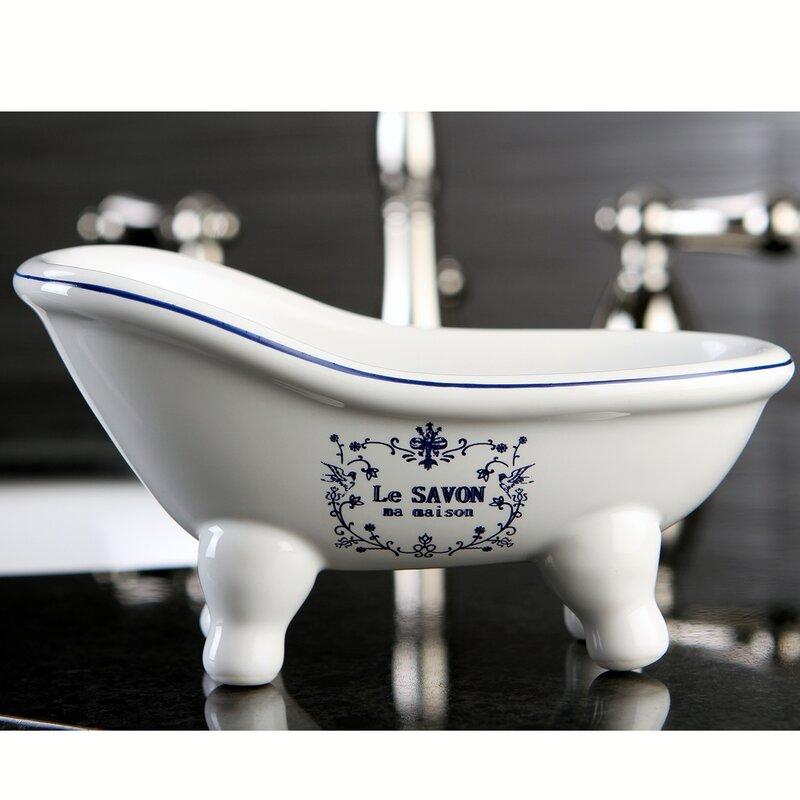 Le Savon Aqua Eden Decorative Mini Bathtub Soap Dish & Reviews ...