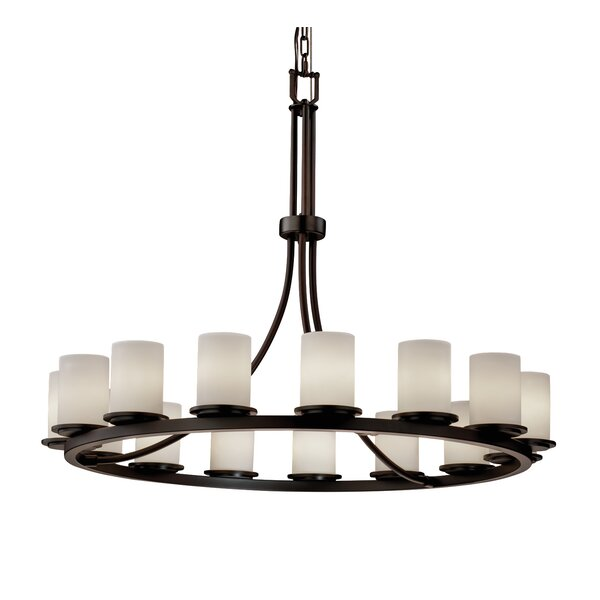 Maelle 15 - Light Candle Style Wagon Wheel Chandelier by Wrought Studio Wrought Studio