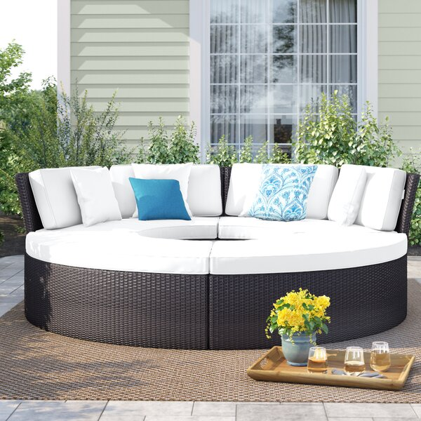 Brentwood 5 Piece Rattan Sectional Seating Group with Cushions by Sol 72 Outdoor Sol 72 Outdoor