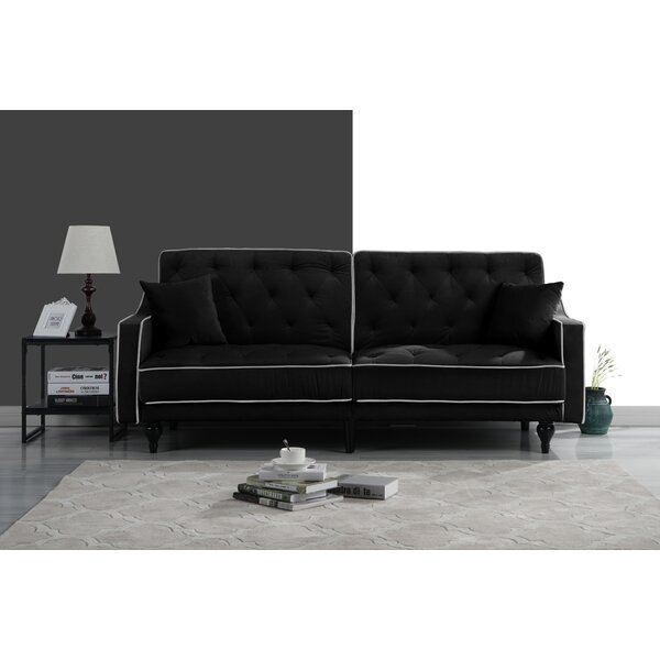 Hypes Mid Century Convertible Sofa by House of Hampton