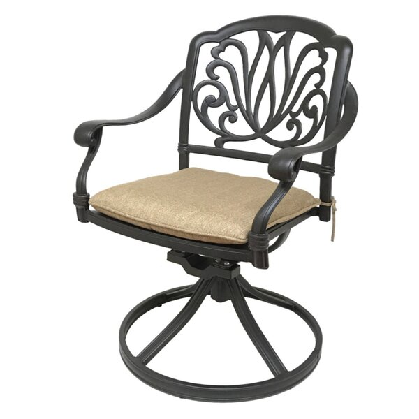 Nina Patio Chair with Cushion (Set of 2) by Fleur De Lis Living