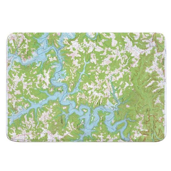 Nautical Chart Nolin Lake KY (1966) Rectangle Memory Foam Non-Slip Bath Rug