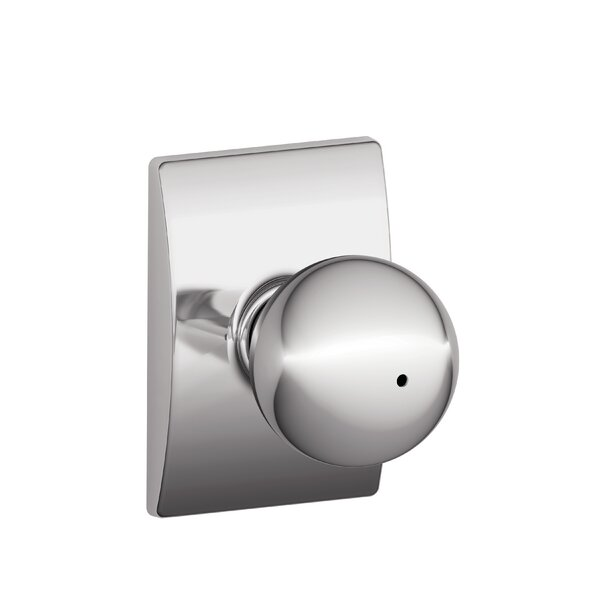 Orbit Knob with Century Trim Bed and Bath Lock by