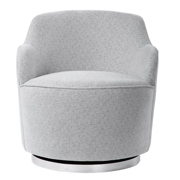 Giuliana Casual Swivel Barrel Chair By Everly Quinn