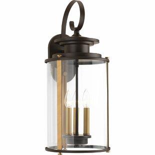 17 stories outdoor wall lights flush mounts birch lane evgenia 3 light outdoor wall lantern mozeypictures Gallery