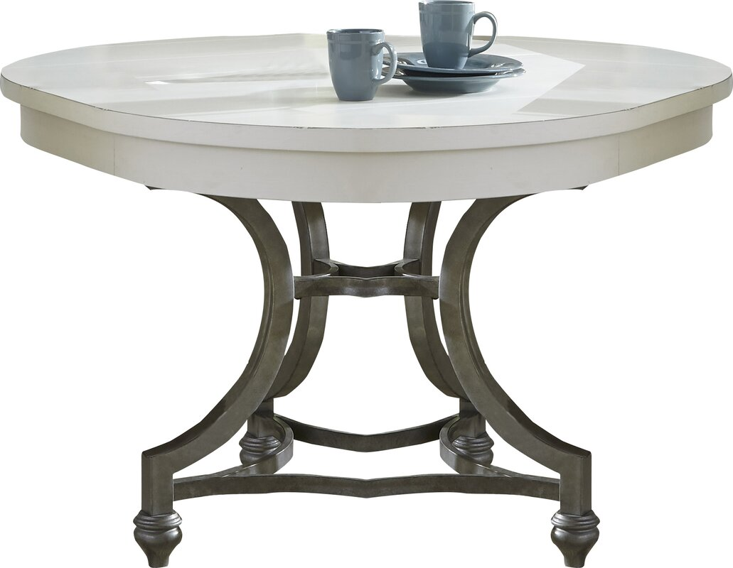 Lark manor saguenay round dining table reviews wayfair for Round table 85