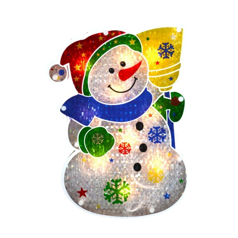 "Christmas House Happy Holidays Snowman Wall Decor Hanging Sign 9/""X13/""w"
