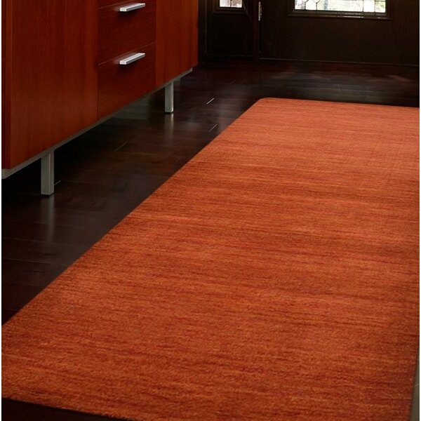 Creager Hand-Tufted Wool Light Red Area Rug by World Menagerie