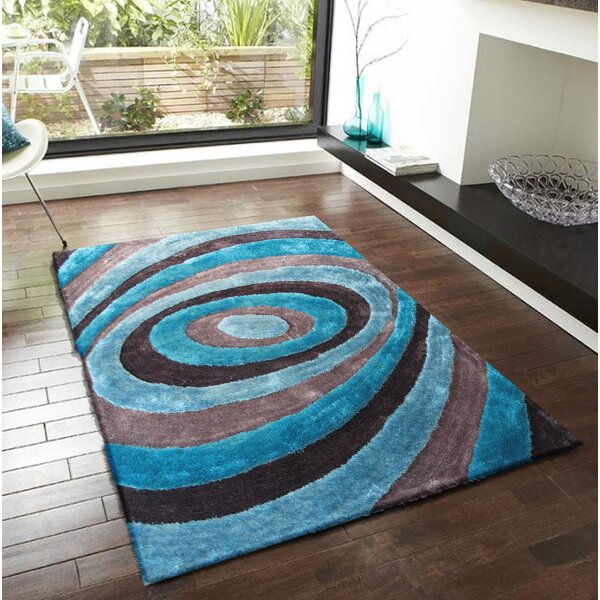 Qualls Hand-Tufted Gray/Blue Area Rug by Latitude Run