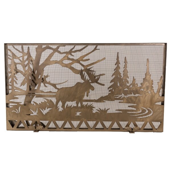 Moose Creek 1 Panel Cabinet Steel Fireplace Screen By Meyda Tiffany