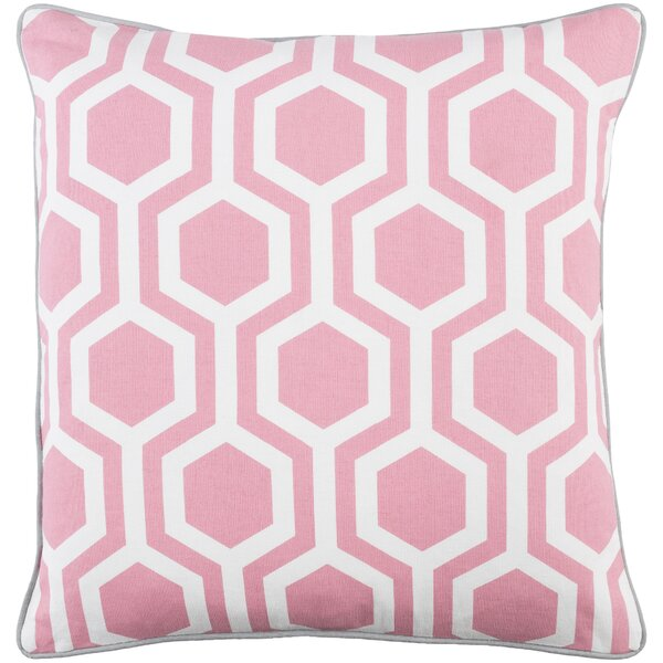Antonia Square Woven Cotton Throw Pillow by Langley Street