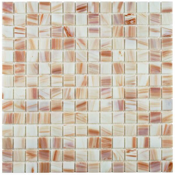 Fused 0.75 x 0.75 Glass Mosaic Tile in Bronze White by EliteTile
