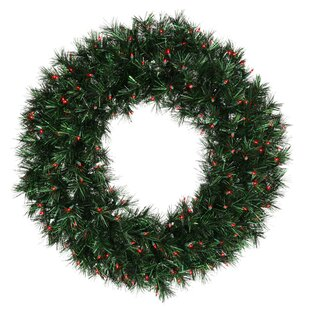 48 lighted artificial midnight christmas wreath - Large Outdoor Christmas Wreath