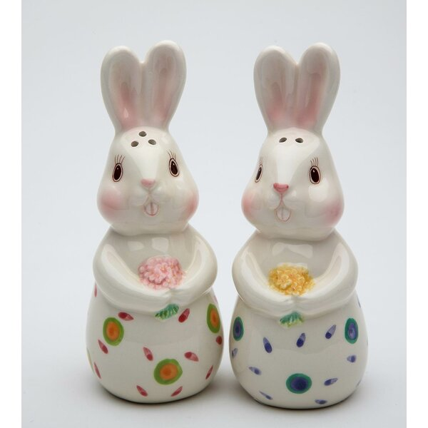 2 Piece Bunnies Forever Salt and Pepper Shaker Set by Cosmos Gifts