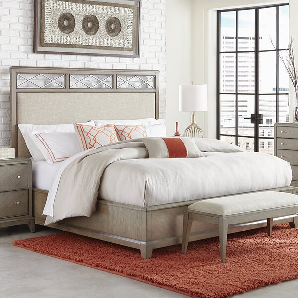 Whicker Upholstered Platform Bed by Ophelia & Co.