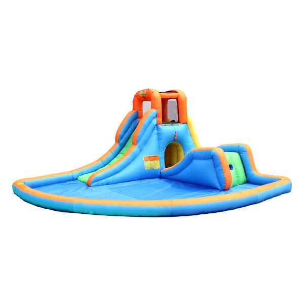 Cascade Inflatable Water Slides with Large Pool by