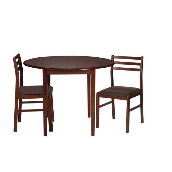 Nels 3 Piece Drop Leaf Dining Set by Charlton Home Charlton Home