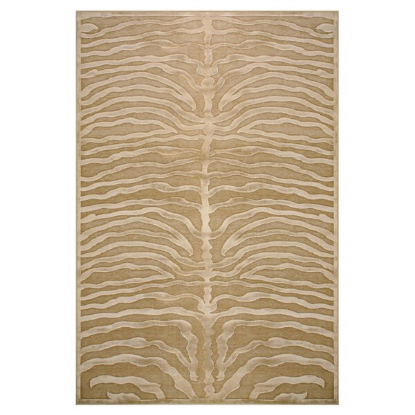 Daden Ivory/Brown Area Rug by World Menagerie
