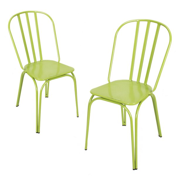 Custinne Stackable Hollow Back Dining Chair (Set of 2) by August Grove