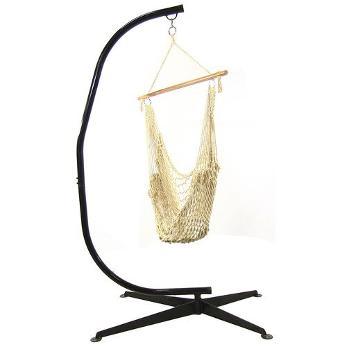 Damia Cotton Chair Hammock with Stand by Highland Dunes Highland Dunes