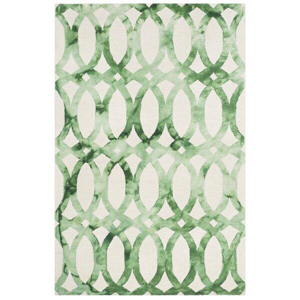 Edie Ivory & Green Area Rug by Zipcode Design