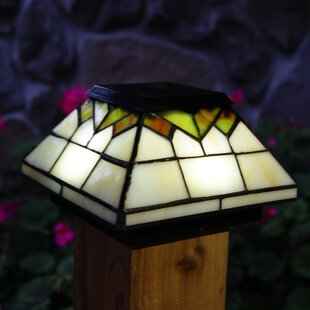 Solar fence post lights wayfair solar light fence post cap aloadofball Gallery