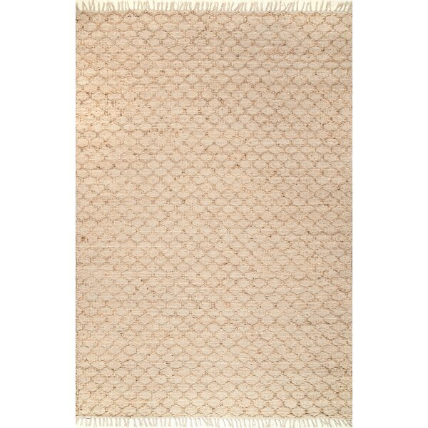 Perlman Hand-Woven Natural Area Rug by Bungalow Rose