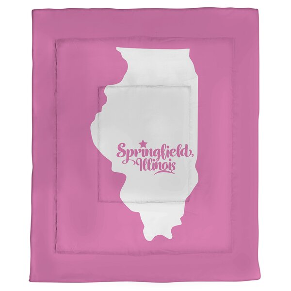 Illinois Springfield Single Reversible Comforter